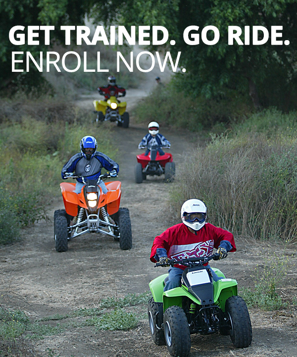 ATV safety course in action